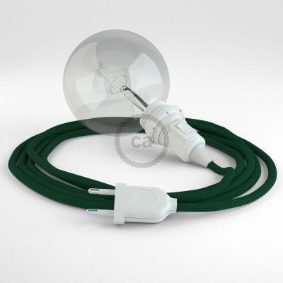 """Viseča luč """"Kača"""" za senčilo iz okroglega kabla RM21, temno zelen."""