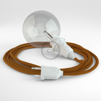 "Viseča luč ""Kača"" za senčilo iz okroglega kabla RM22, Whiskey."