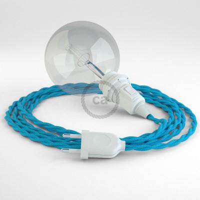 "Viseča luč ""Kača"" za senčilo iz zavitega kabla TM11, turkizen."