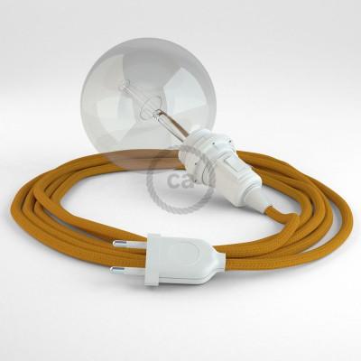 "Viseča luč ""Kača"" za senčilo iz okroglega kabla RM25, gorčično rumen."