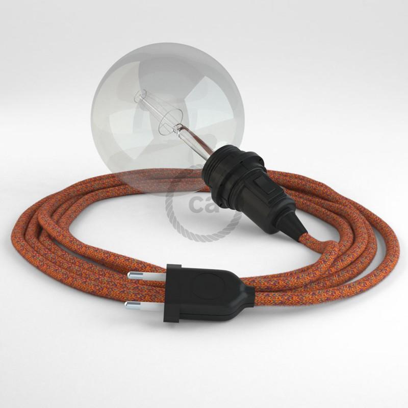 "Viseča luč ""Kača"" za senčilo iz okroglega kabla RX07, indijansko poletje."