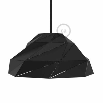 Nuvola - črno neprozorno kovinsko senčilo z E27 grlom