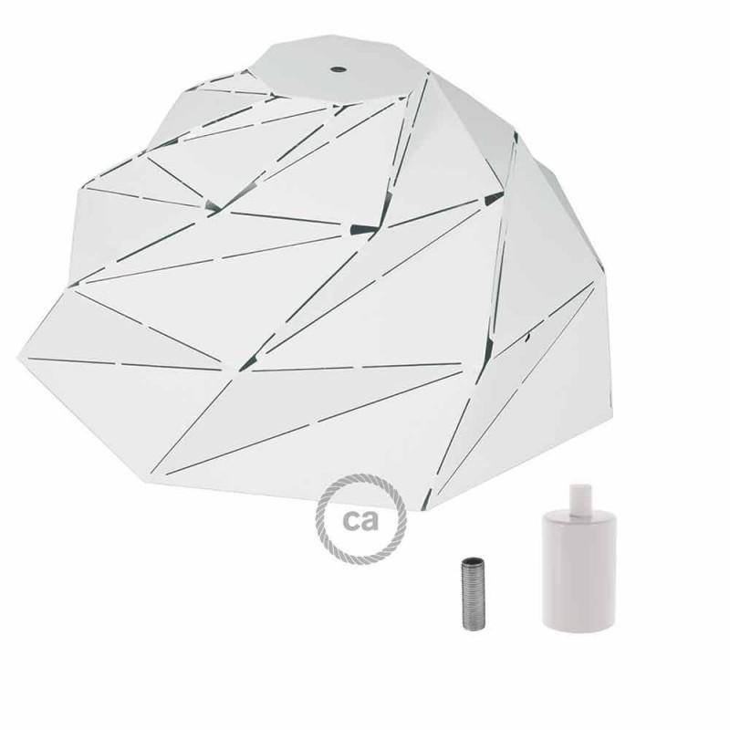 Nuvola - bleščeče belo kovinsko senčilo z E27 grlom
