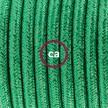 Komplet s talnim stikalom, RL06 lesketajoč zelen rejon 3 m. Izberite barvo vtikača in stikala.