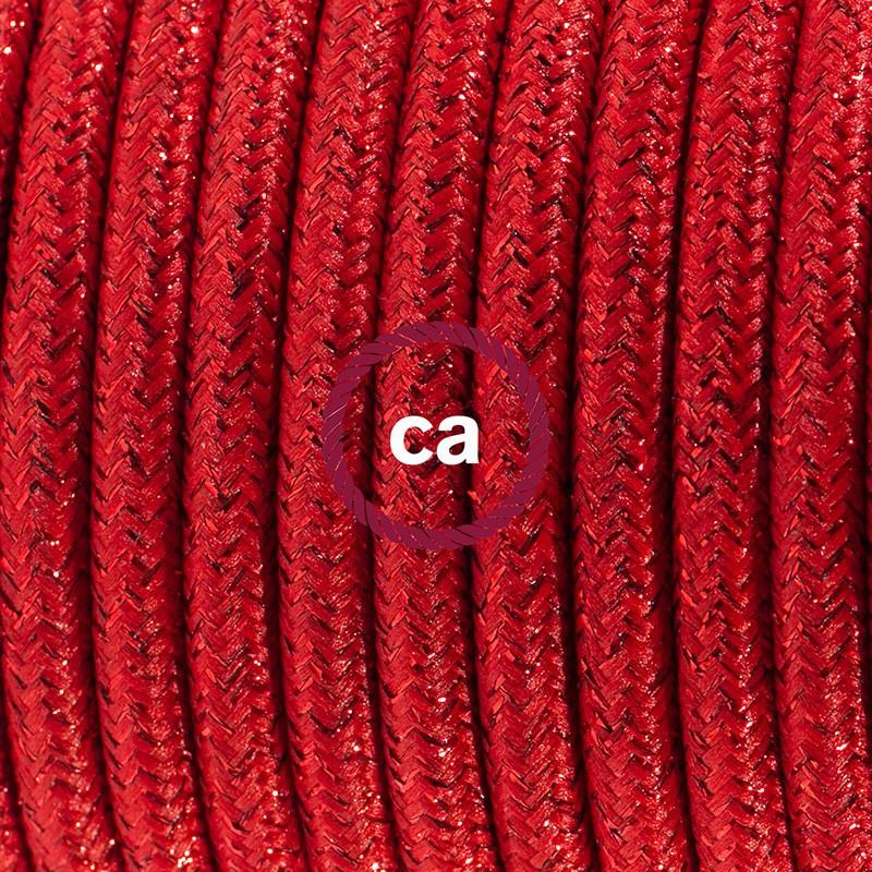 Komplet s talnim stikalom, RL09 lesketajoč rdeč rejon 3 m. Izberite barvo vtikača in stikala.