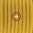 Komplet s talnim stikalom, RC31 medeno-zlat bombaž 3 m. Izberite barvo vtikača in stikala.