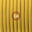 Komplet s talnim stikalom, RM25 gorčično rumen rejon 3 m. Izberite barvo vtikača in stikala.