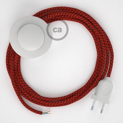 Komplet s talnim stikalom, RT94 rdeči vrag rejon 3 m. Izberite barvo vtikača in stikala.