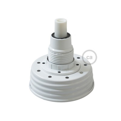 Bel Mason Jar komplet za visečo svetilko s cilindričnim podaljškom in E14 belim bakelitnim grlom žarnice