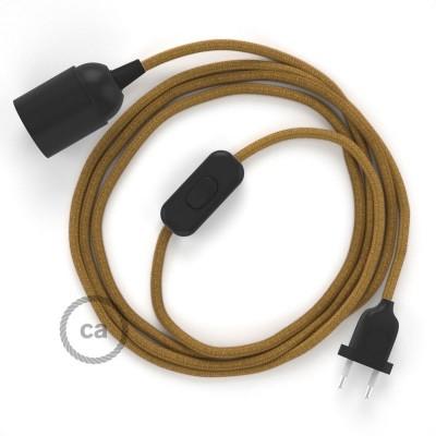 SnakeBis komplet za svetilko s tekstilnim kablom - Medeno-Zlat Bombaž RC31