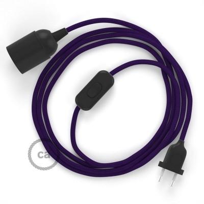 SnakeBis komplet za svetilko s tekstilnim kablom - Vijola Rejon RM14