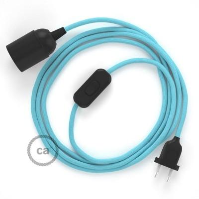 SnakeBis komplet za svetilko s tekstilnim kablom - Baby Blue Rejon RM17