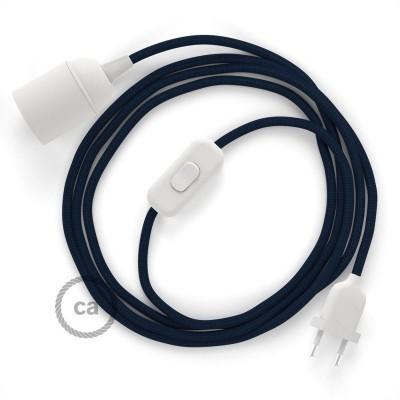 SnakeBis komplet za svetilko s tekstilnim kablom - Temno Moder Rejon RM20
