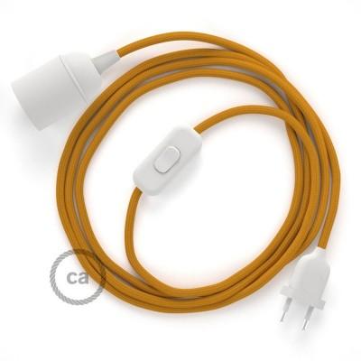 SnakeBis komplet za svetilko s tekstilnim kablom - Gorčično Rumen Rejon RM25