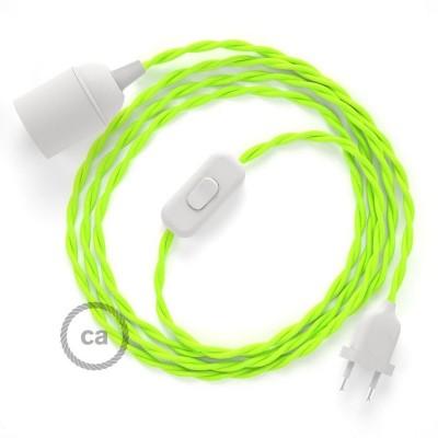 SnakeBis komplet za svetilko s tekstilnim kablom - Fluo Rumen Rejon TF10