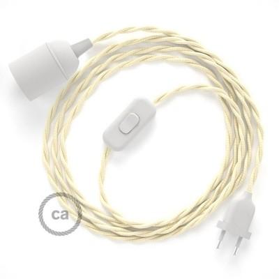 SnakeBis komplet za svetilko s tekstilnim kablom - Slonovina Rejon TM00