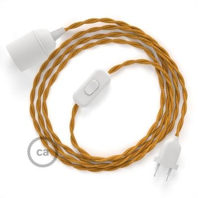 SnakeBis komplet za svetilko s tekstilnim kablom - Zlat Rejon TM05