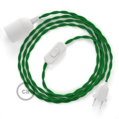 SnakeBis komplet za svetilko s tekstilnim kablom - Zelen Rejon TM06