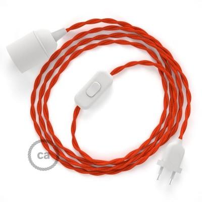 SnakeBis komplet za svetilko s tekstilnim kablom - Oranžen Rejon TM15