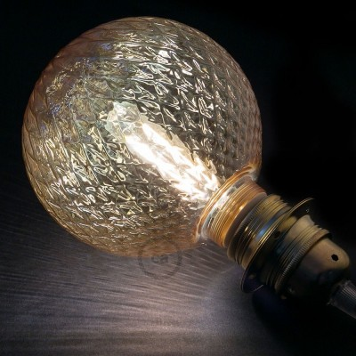 Modularna dekorativna LED svetilka s kroglo Dimljena s piramidastim vzorcem 5W E27 2700K Zatemnilna