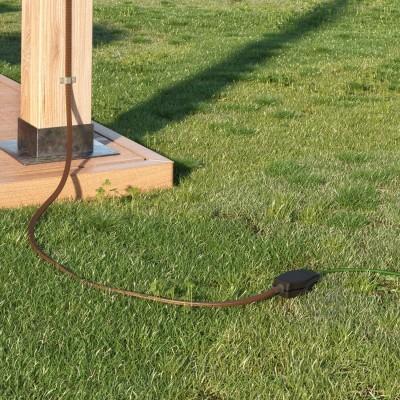 Spojna škatla za verigo luči z adapterjem za okrogle in ravne kable