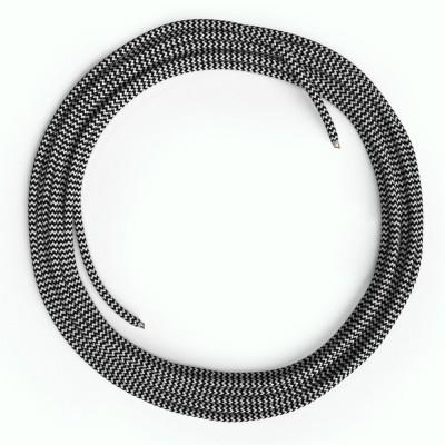 LAN - Eternetni tekstilni kabel RZ04 zig-zag črn - Cat 5e brez RJ45 vtiča