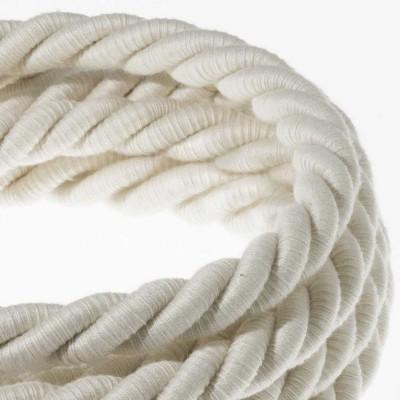 XL električna vrv, električen kabel 3x0,75, prekrit s surovim bombažem. Premer 16mm.