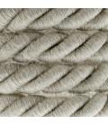 XL električna vrv, električen kabel 3x0,75, prekrit z naravnim lanom. Premer 16mm.