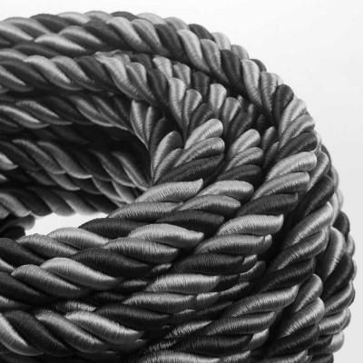 2XL električna vrv, električen kabel 3x0,75, prekrit s svetlo tkanino, Orleans. Premer 24mm.