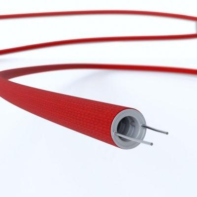 Creative-Tube prilagodljiv prevodnik, prevlečen s tekstilom Rdeča Rejon RM09, premera 16 mm