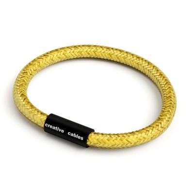 Zapestnica z mat črno magnetno zaponko in kablom RM31