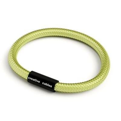 Zapestnica z mat črno magnetno zaponko in kablom RM32