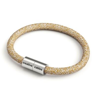 Zapestnica z mat srebrno magnetno zaponko in kablom RS82