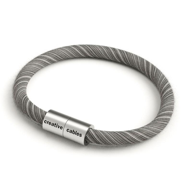Zapestnica z mat srebrno magnetno zaponko in kablom ERC37