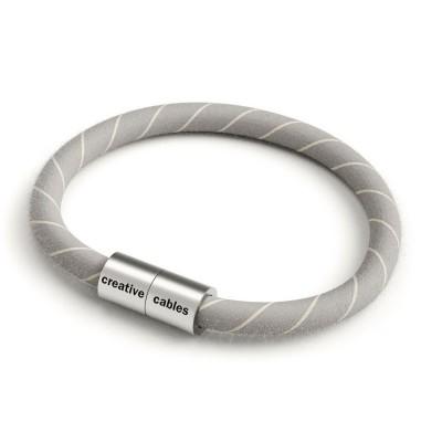 Zapestnica z mat srebrno magnetno zaponko in kablom ERD22