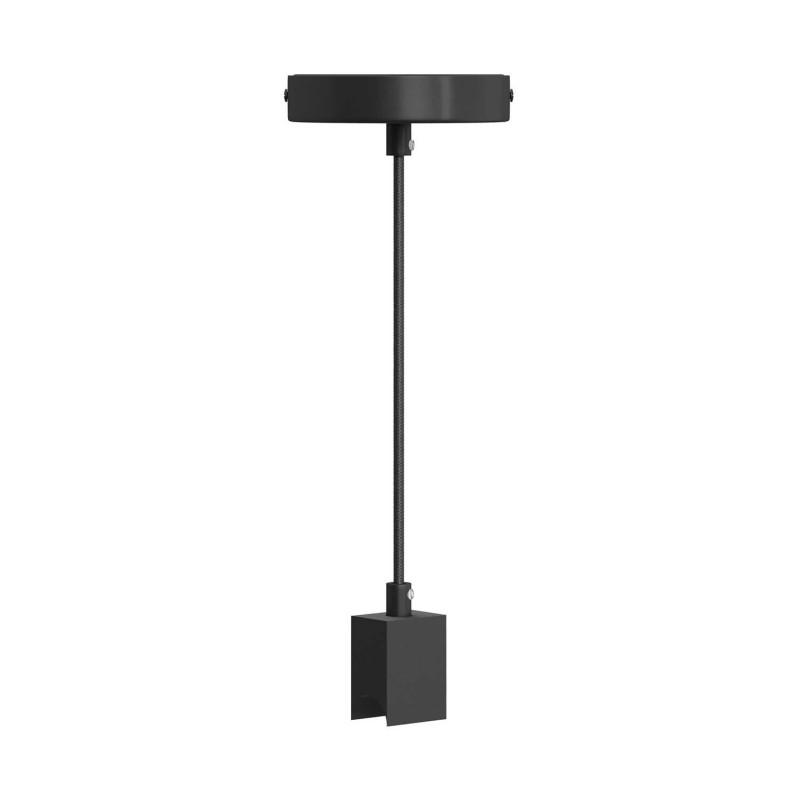 Set stenske svetilke z grlom S14d Syntax na črnem RM04 Rayon kablu
