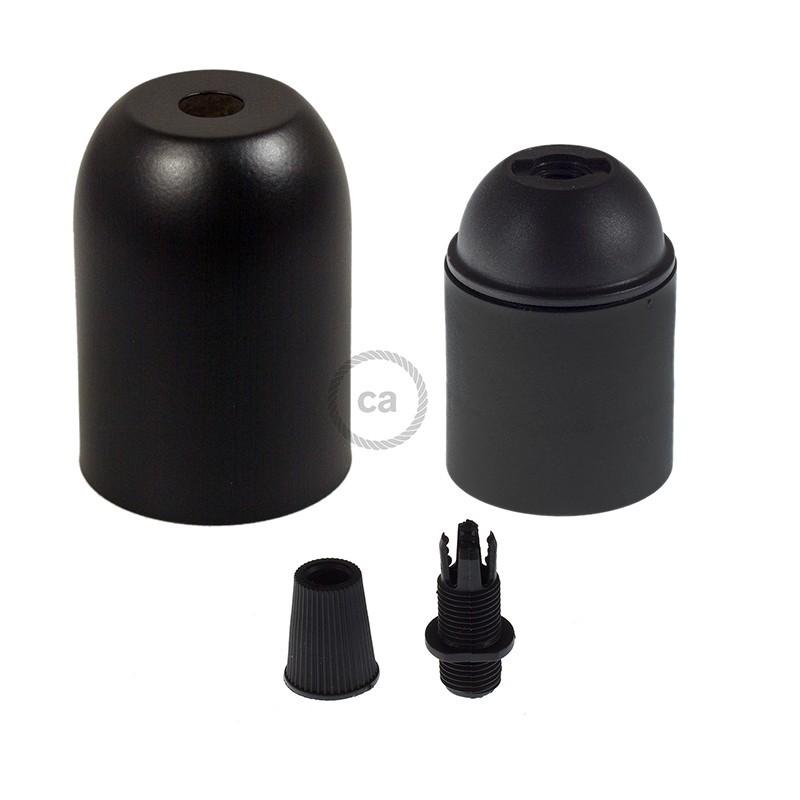 Barvano kovinsko grlo E27 - komplet