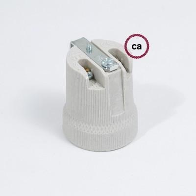 Notranje porcelansko grlo E27 - komplet