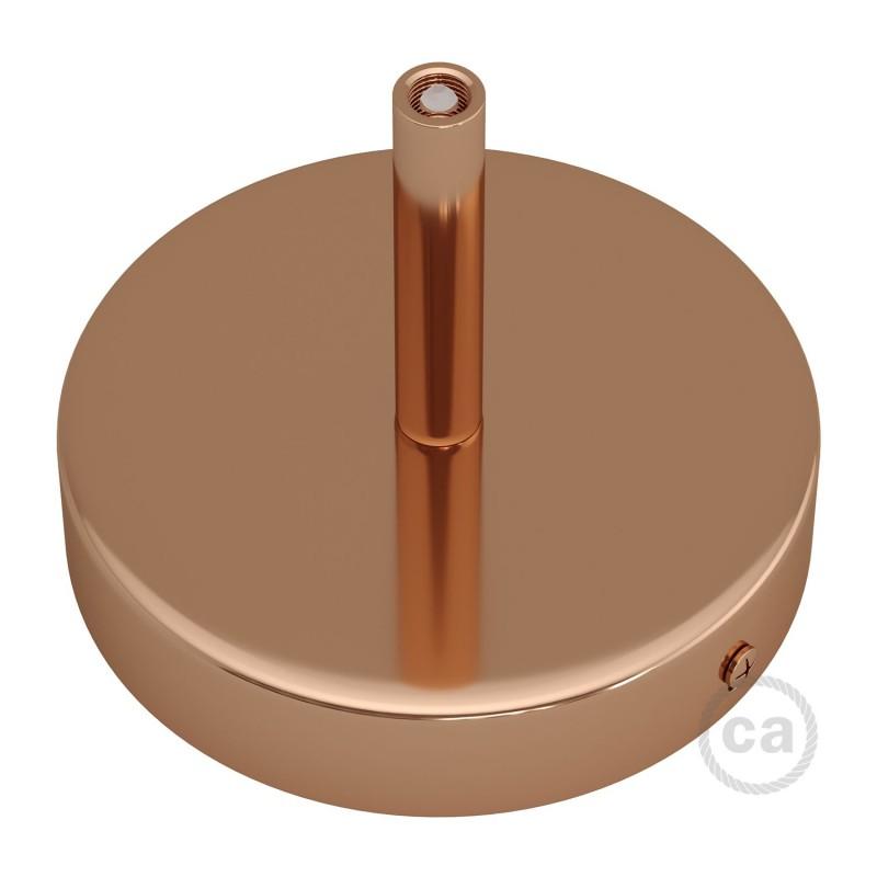 Cilindrična kovinska stropna rozeta s 7 cm objemko - komplet