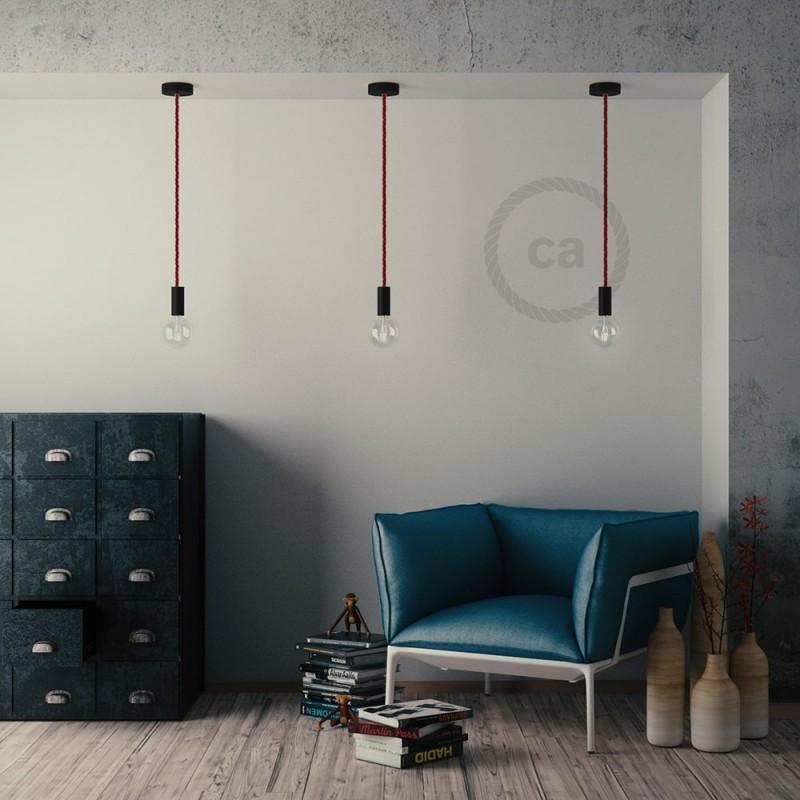 Lesena stropna rozeta za XL kable (vrvi) - komplet
