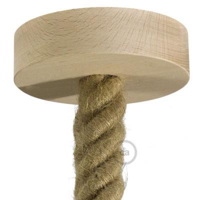 Lesena stropna rozeta za 3XL kable (vrvi) - komplet