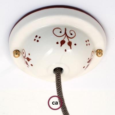 Ceramic Deco-81 Berries stropna rozeta - komplet