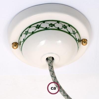 Ceramic Deco-82 Ivy stropna rozeta - komplet