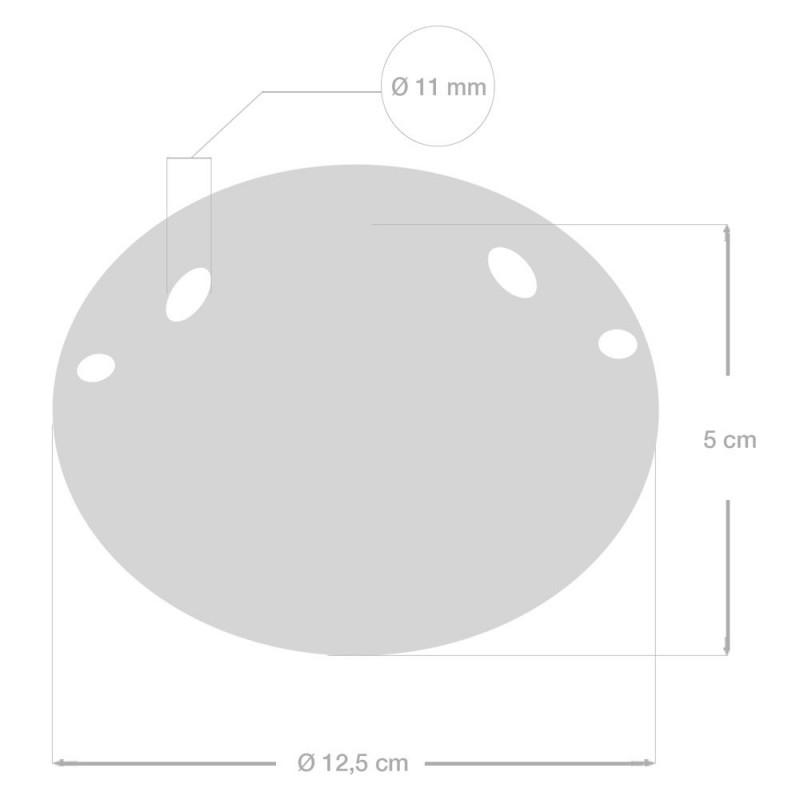 Keramična stropna rozeta z 2 izpustoma - komplet