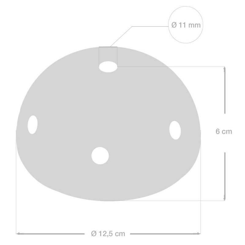 Keramična stropna rozeta s 7 izpusti - komplet