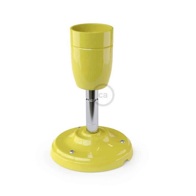 Fermaluce 90° Color Block, svetilo za stropno ali stensko montažo s porcelanskim grlom, nastavljivo