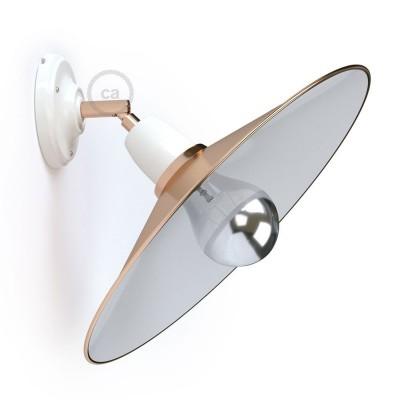 Fermaluce 90° Glam, svetilo za stropno ali stensko montažo s prilagodljivim kovinskim senčilom
