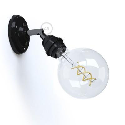 Fermaluce 90° Monochrome, svetilo za stropno ali stensko montažo s porcelanskim glom E27, nastavljivo