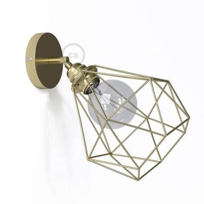 Fermaluce Metallo 90° Urban, nastavljivo kovinsko svetilo za stensko montažo s senčilom Diamond