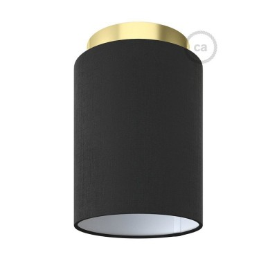 Fermaluce Glam kovinsko svetilo z valjasto obliko senčila, Ø 15cm h18cm, za stensko ali stropno montažo